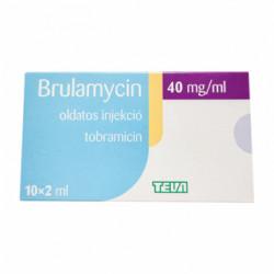 Купить Бруламицин (Тобрамицин) 40мг/мл 2мл! (80мг) ампулы №10 в Краснодаре