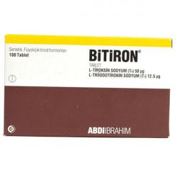 Купить Битирон, Bitiron (аналог Новотирал, Тиреотом) табл. 50 12,5мкг №100 в Краснодаре
