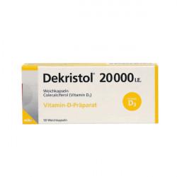 Купить Декристол (Dekristol) 20000 D3 капсулы 50шт/уп в Краснодаре