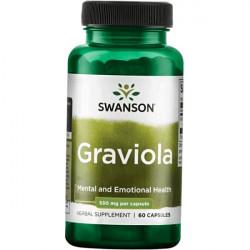 Купить Гравиола (Graviola) в капсулах 530мг Swanson №60 в Краснодаре