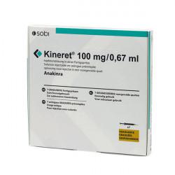 Купить Кинерет, Анакинра р-р для ин. 100 мг №7 в Краснодаре