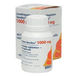 Купить Леветирацетам 1000мг табл. №60 (60 табл./уп) в Краснодаре