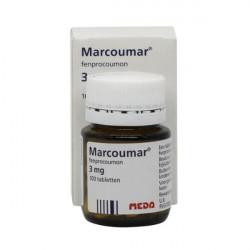 Купить Маркумар (Marcumar, Фенпрокумон) 3мг таблетки 100шт в Краснодаре