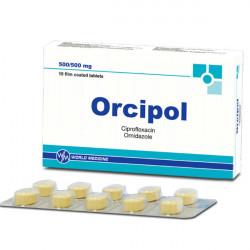 Купить Орципол (Ципрофлоксацин, Орнидазол) таблетки N10  в Краснодаре