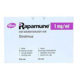 Купить Рапамун (Сиролимус) раствор для приема внутрь 1мг/мл 60мл в Краснодаре