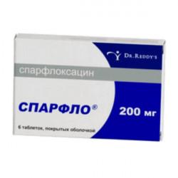 Купить Спарфлоксацин Spar (Флоксимар, Спарфло) 200мг таблетки №6 в Краснодаре
