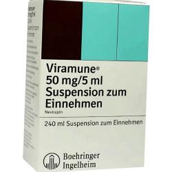 Купить Вирамун (Невирапин) сироп для новорожденных (суспензия) 50мг/5мл 240мл в Краснодаре