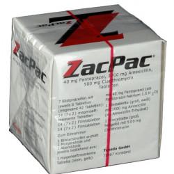 Купить ЗакПак (Zacpac, Зак Пак) набор капс. на 7 дней (Амоксициллин, Пантопразол) в Краснодаре